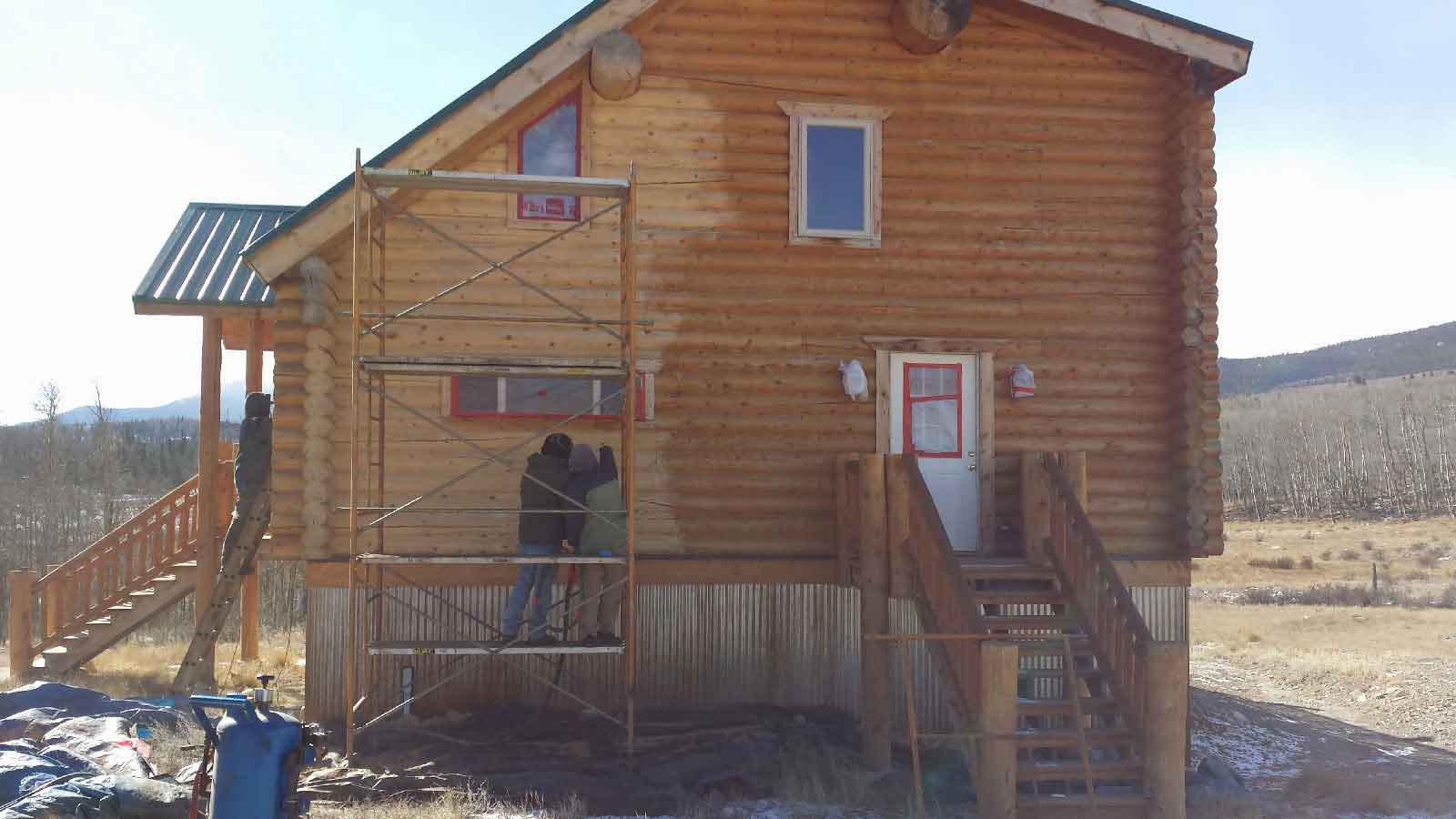 sealing log homes chinking and sealing of log home cabins learn more