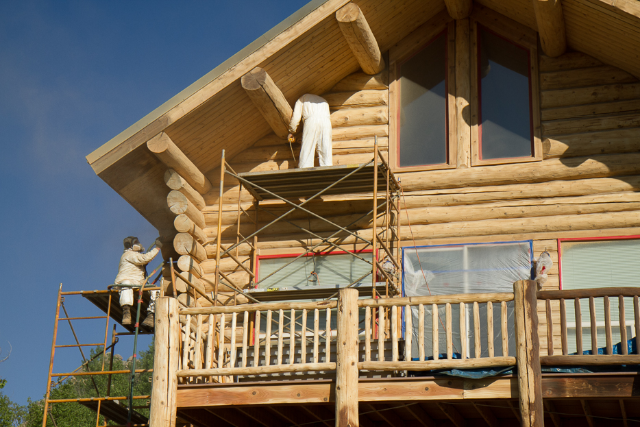 log home repair Colorado